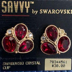 SAVVY by Swarovski Clip Earrings